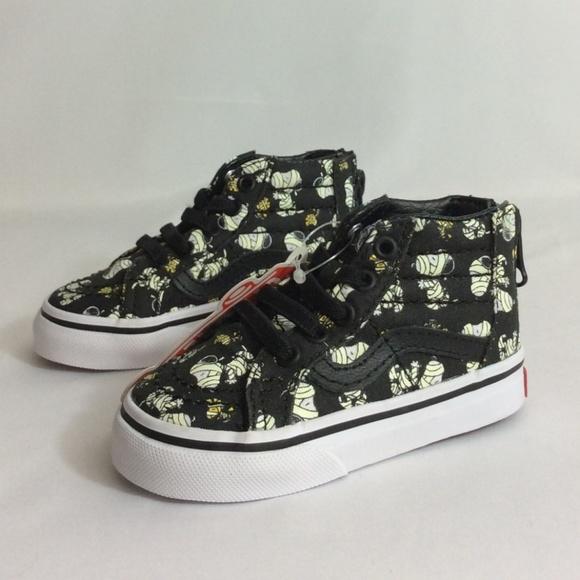 NIB Vans SK8 Hi Zip Peanuts Sneakers